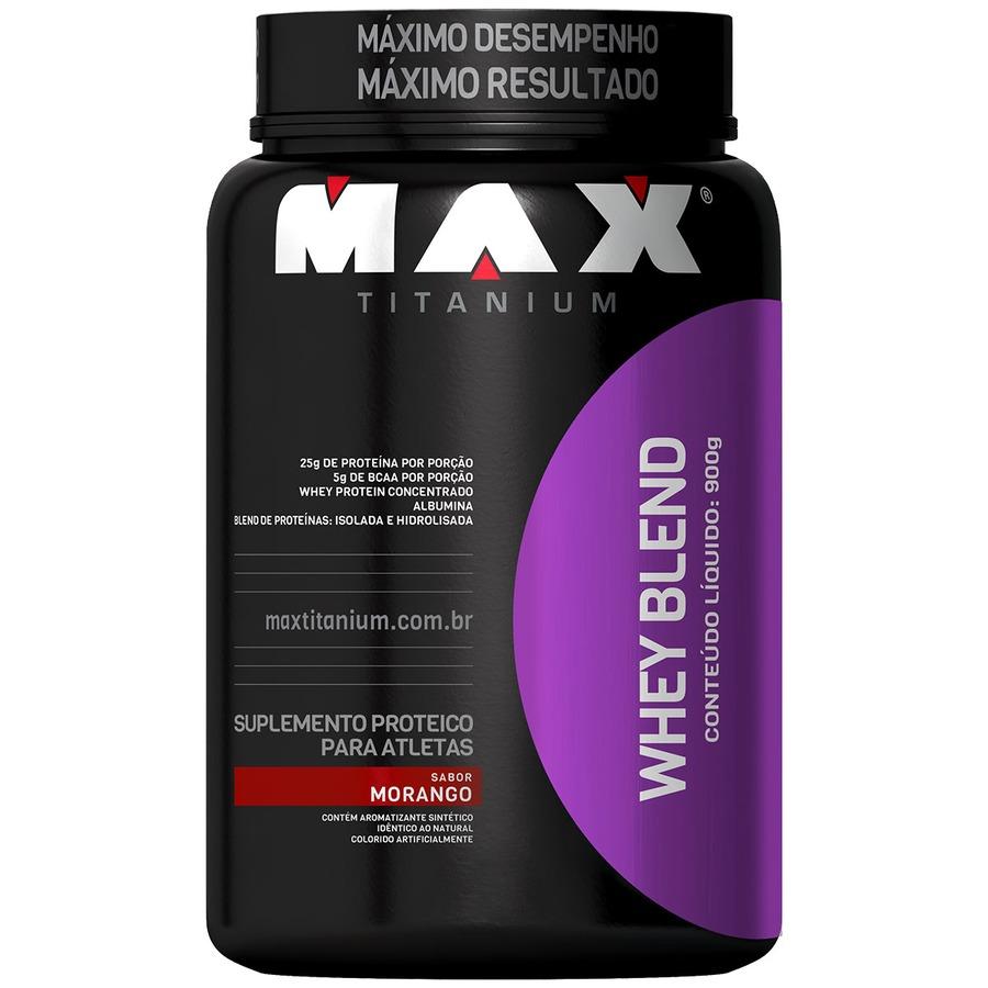 Whey Blend 900G - Morango - Max Titanium
