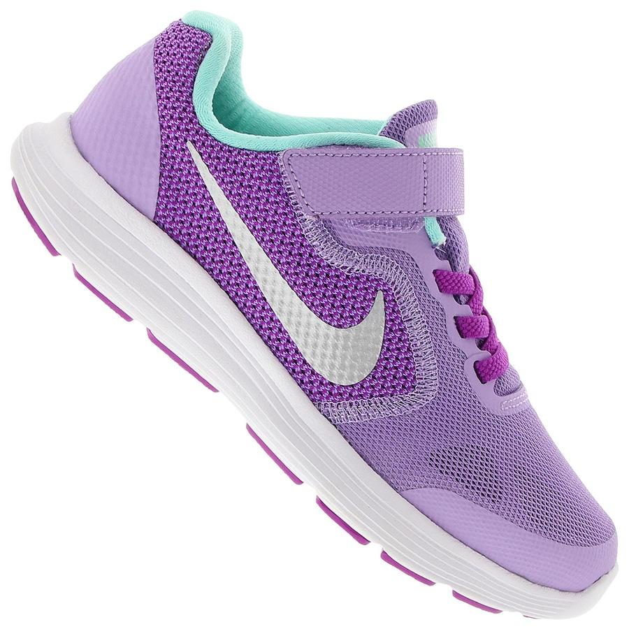 Tênis Nike Revolution 3 PSV W - Infantil 55a234ddebdef