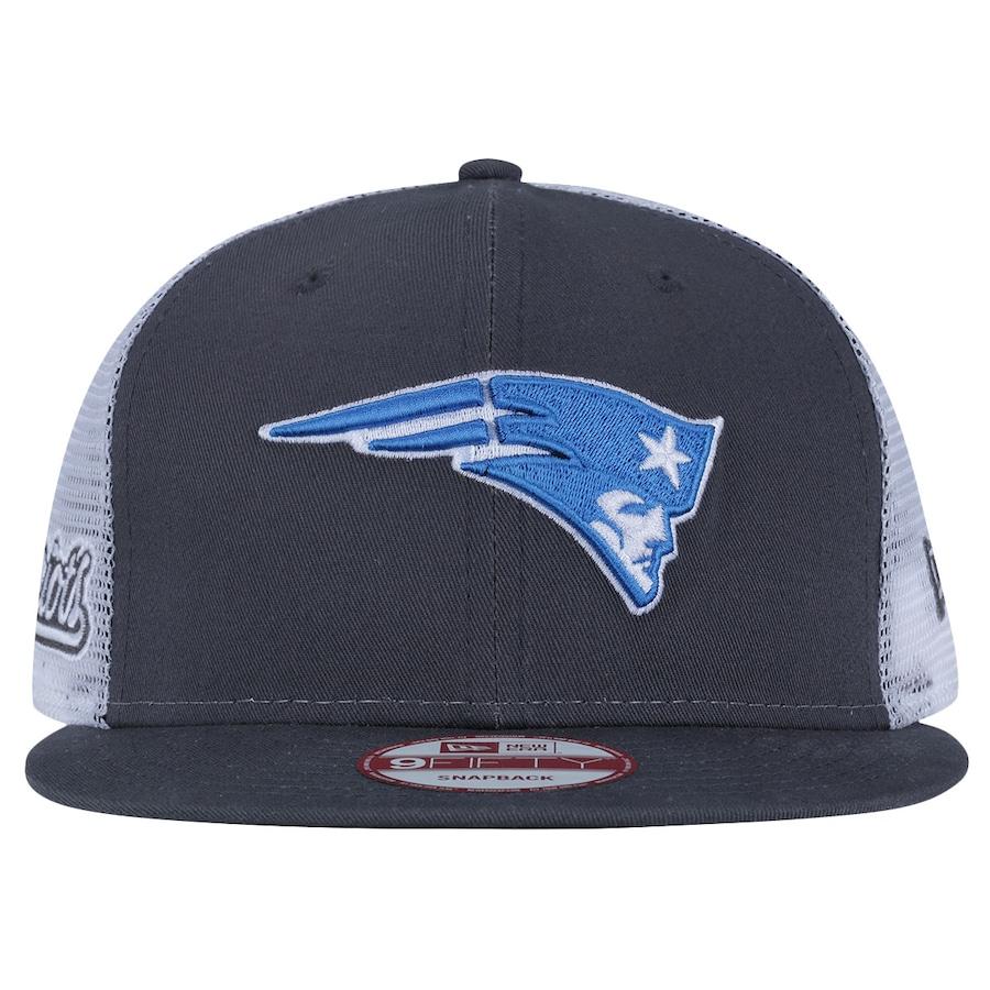 Boné Aba Reta New Era New England Patriots Snapback Trucker 3469c6ceb83