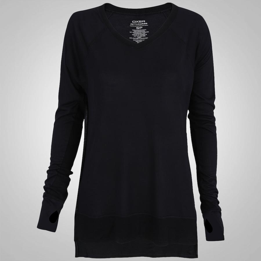 21e119edc1 Camiseta Manga Longa c  Furo p  Polegar Oxer Rudy Feminina