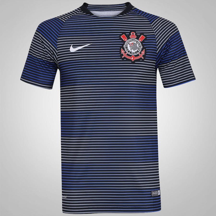 Camisa Pré-Jogo do Corinthians Nike Flash 2016 - Masculina 260df08e78a77