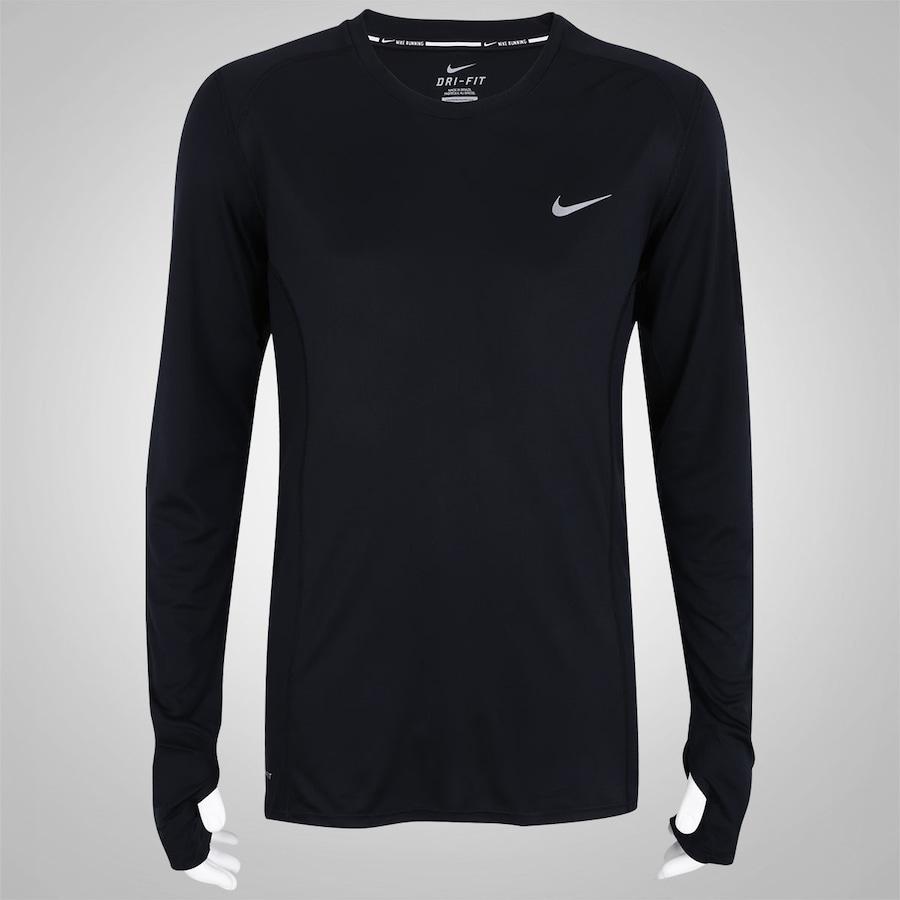 1b3e00a7b8 Camiseta Manga Longa Nike Dri Fit Miler - Masculina