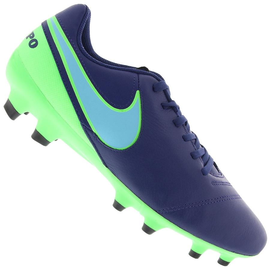 Chuteira de Campo Nike Tiempo Gênio II Leather FG - Adulto 3fce0ad626dc2