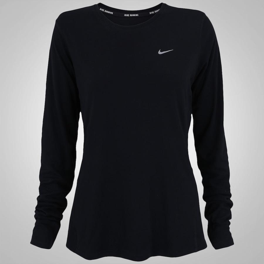 Camiseta Manga Longa Nike Miler - Feminina b2ebe6ccf9011