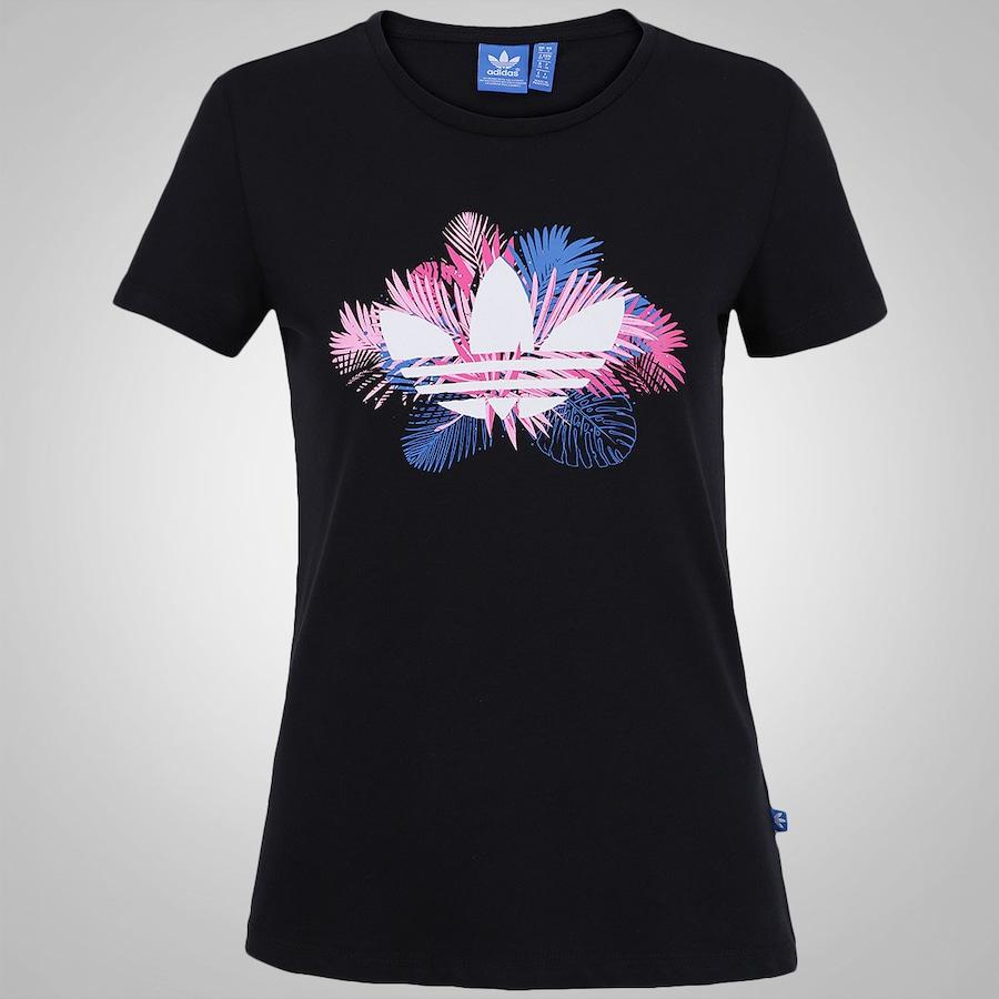 5d38677da90 Camiseta adidas Floral Trefoil - Feminina