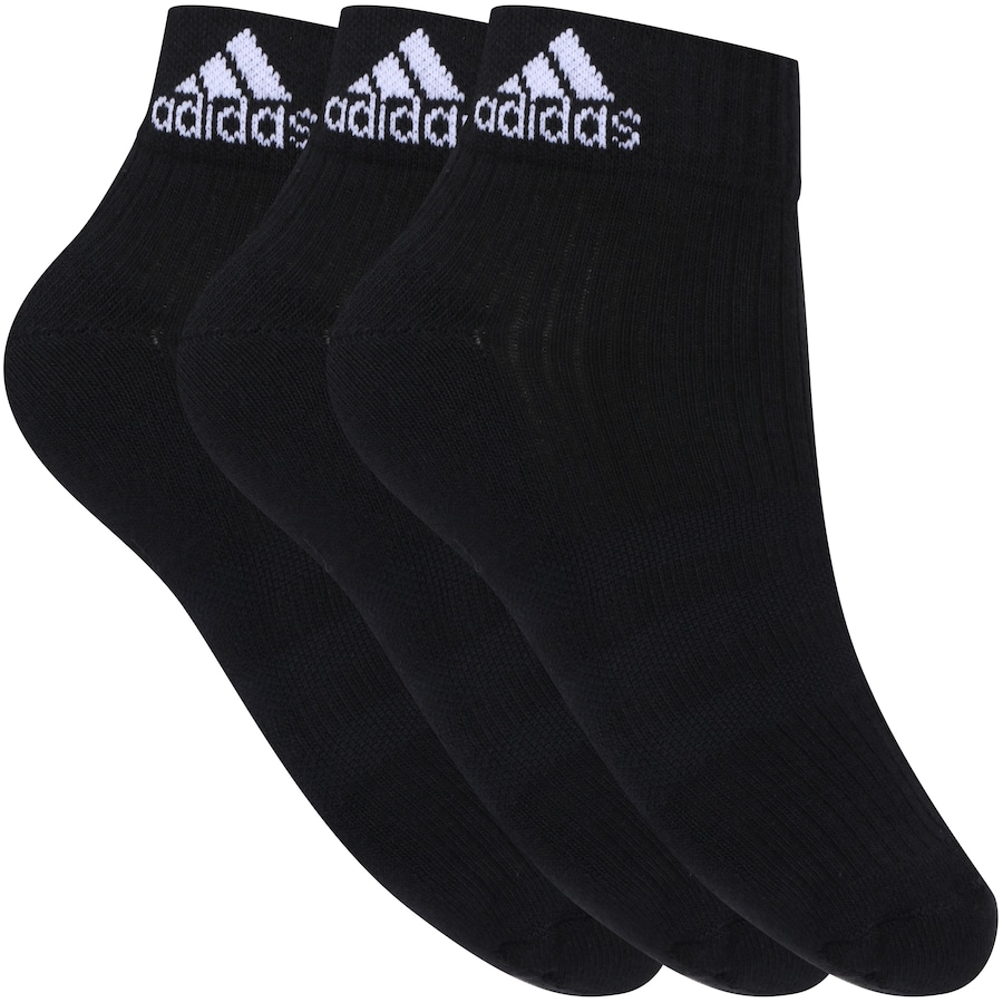 deb5b2076 Kit de Meia adidas Ankle MID Cushion 3S com 3 Pares - Adult