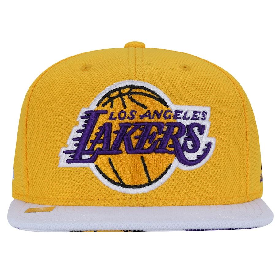34ddabd790d34 Boné Aba Reta adidas Los Angeles Lakers NBA Flat - Snapback