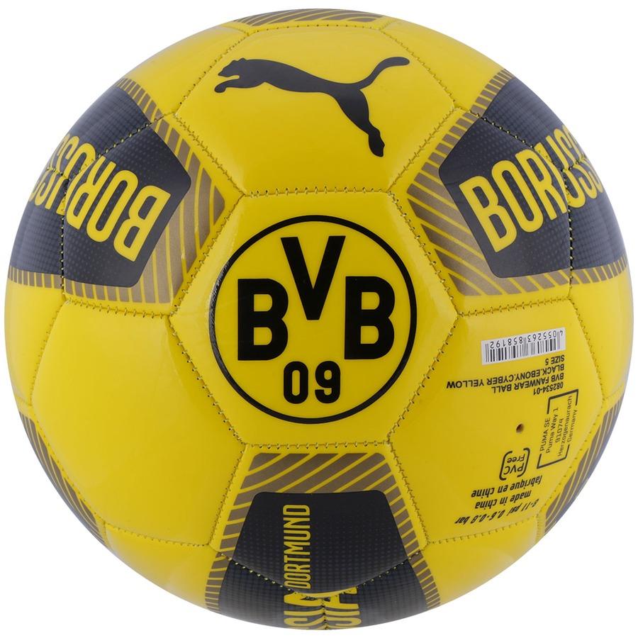 Bola de Futebol de Campo Puma Borussia Dortmund Fanwear fa21f90a5ee87