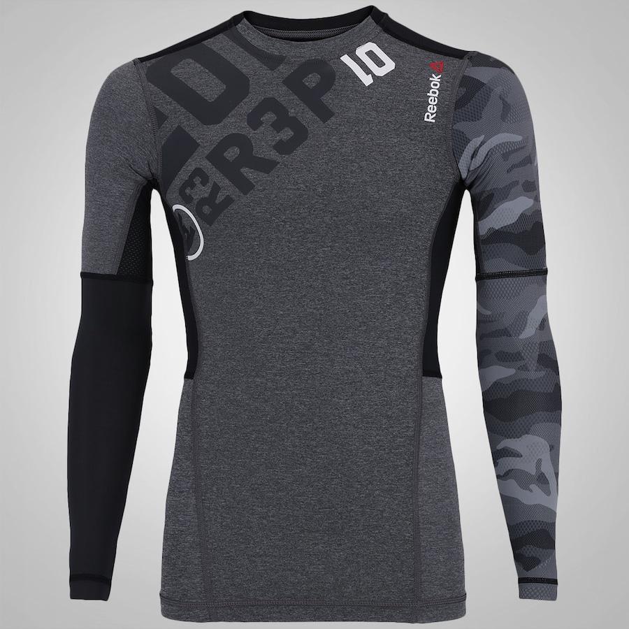 Camisa de Compressão Manga Longa Reebok OS - Masculina f72bf495118f6