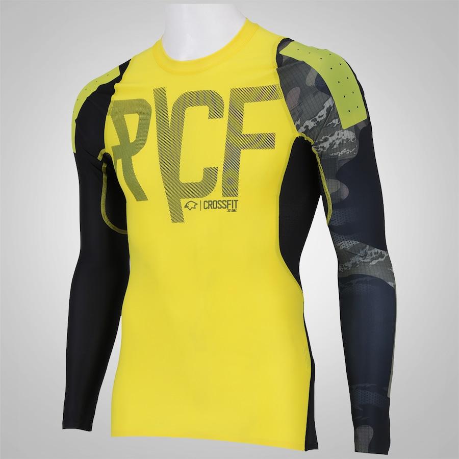 6ce1679bae Camisa de Compressão Manga Longa Reebok RCF - Masculina