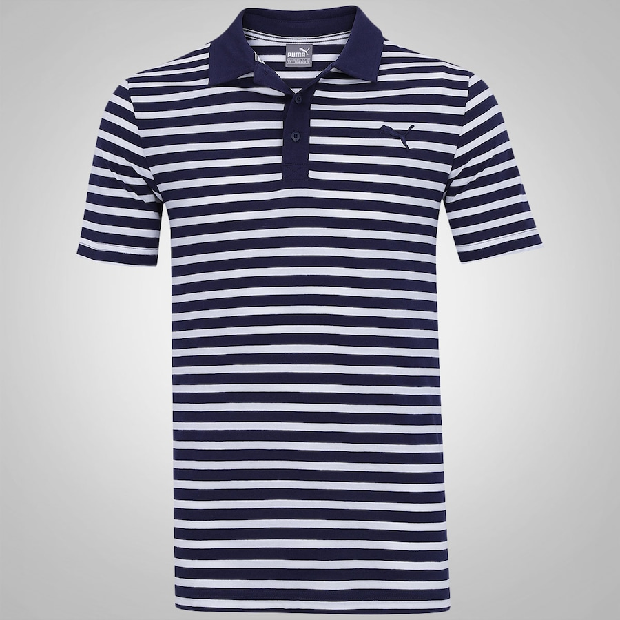 505596b470 Camisa Polo Puma Ess Striped Jersey - Masculina