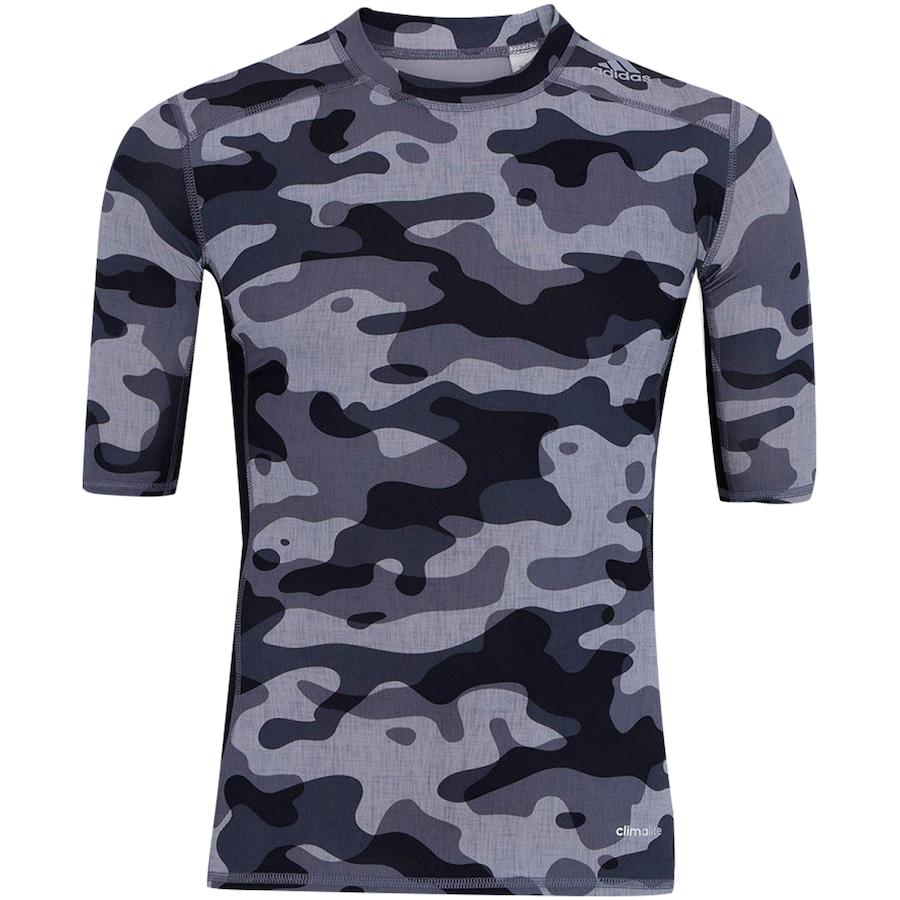 Camisa de Compressão adidas TechFit Base Camuflada S16 - Ma 43bc0c8a6e3e0