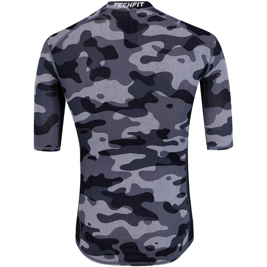 ... Camisa de Compressão adidas TechFit Base Camuflada S16 - Masculina ... 4c02b8994f3be