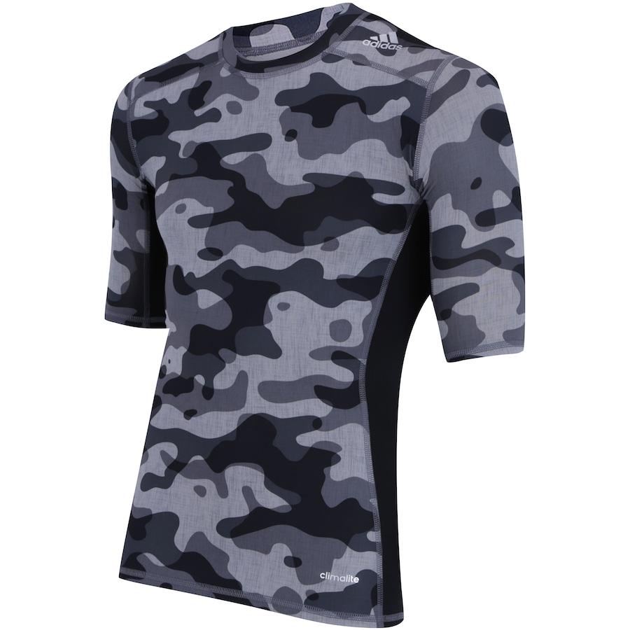 016c8c1b10 ... Camisa de Compressão adidas TechFit Base Camuflada S16 - Masculina ...