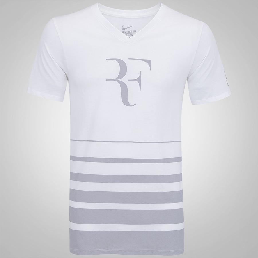 d45e4b2221e Camiseta Nike Roger Federer Vneck - Masculina