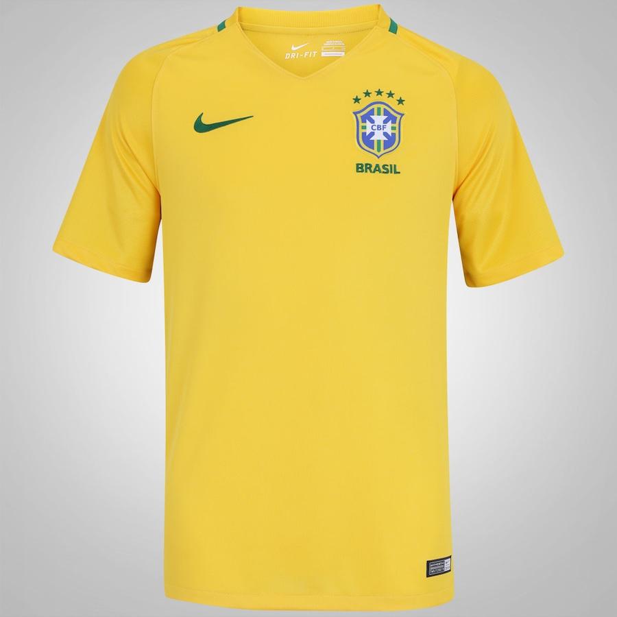 5664b97c6 Camisa do Brasil I 2016 Nike