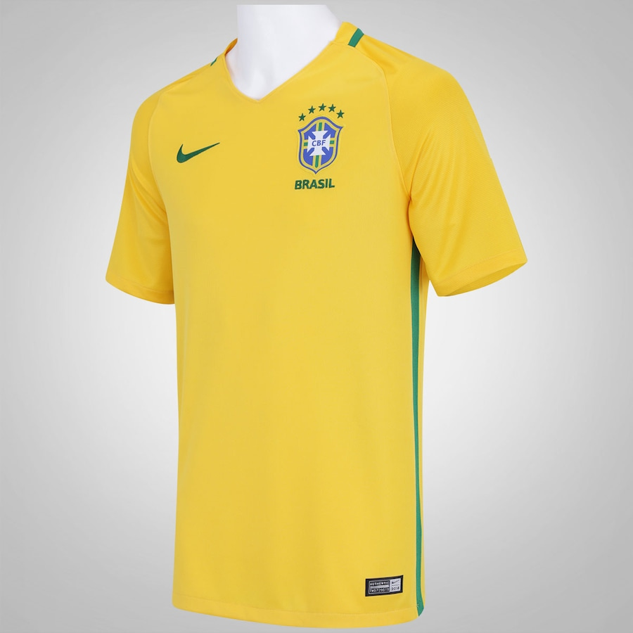 f4a8a7b00f015 ... Camisa do Brasil I 2016 Nike - Masculina ...