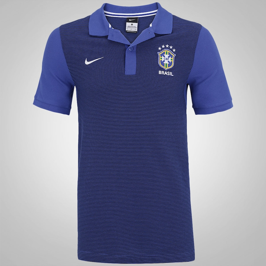 Camisa Polo do Brasil Nike CBF Authentic - Masculina 3240aebf44ad3