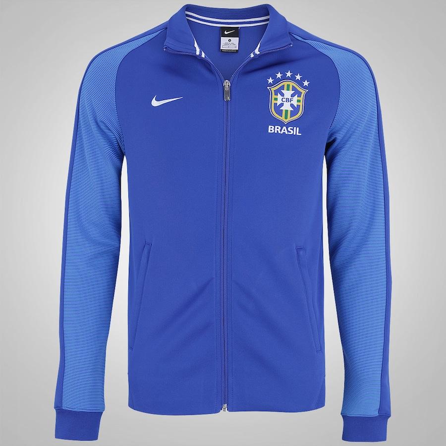 d118d35015098 Jaqueta do Brasil Pré-Treino Nike Authentic N98 - Masculina