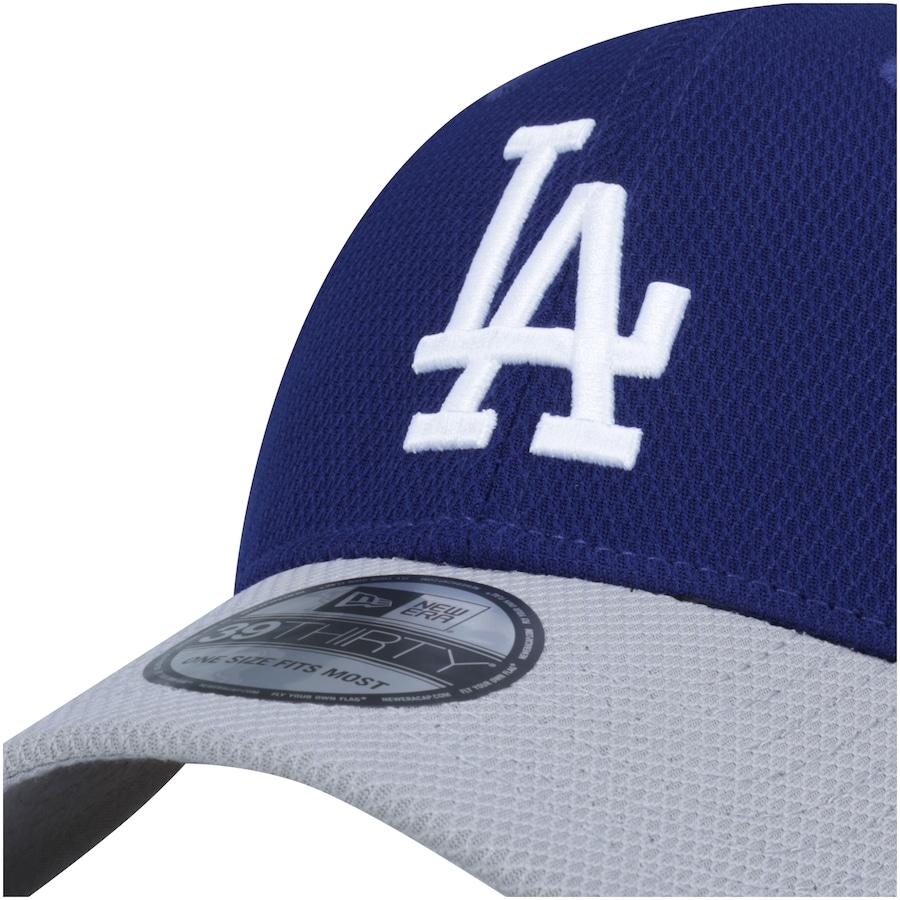 Boné New Era Los Angeles Dodgers Bicolor - Fechado - Adulto 73f926609a7