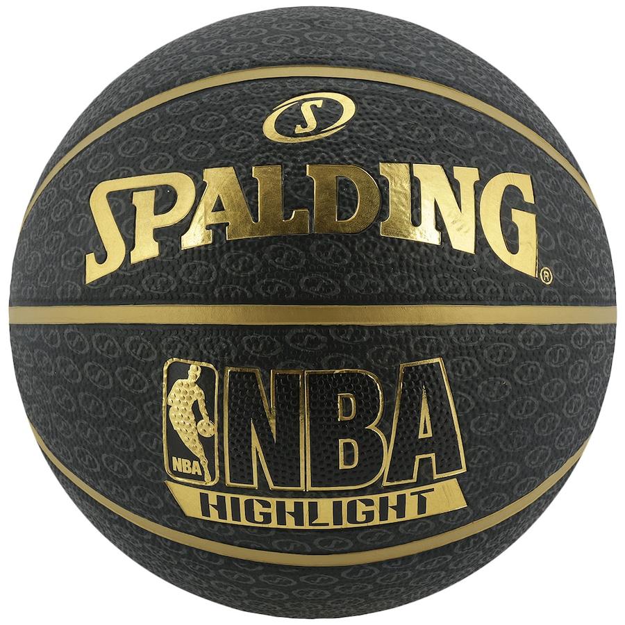 Bola de Basquete Spalding NBA Highlight Dourada 3f932fa97f513
