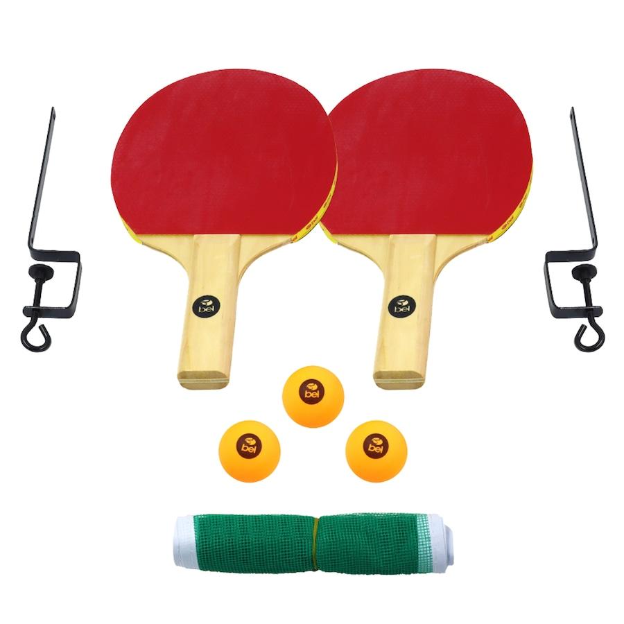 e9575a3e5e Kit de Tênis de Mesa Belfix com 3 Bolinhas + Rede + 2 Raquetes