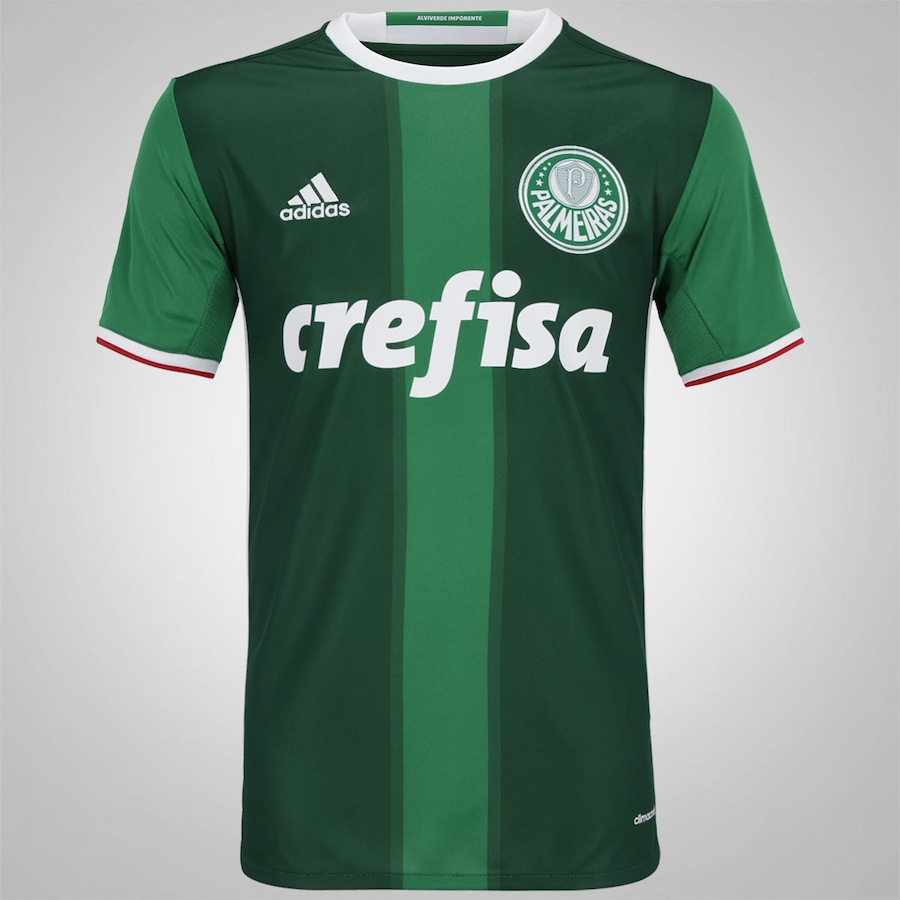 Camisa do Palmeiras I 2016 adidas Listra - Masculina f8bbd35a74d83