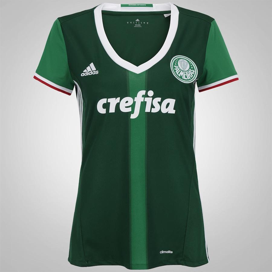 Camisa do Palmeiras I 2016 adidas - Feminina b6e2215de3ec0