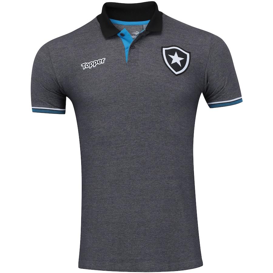 Camisa Polo do Botafogo Viagem 2016 Topper - Masculina 7674612ac174a