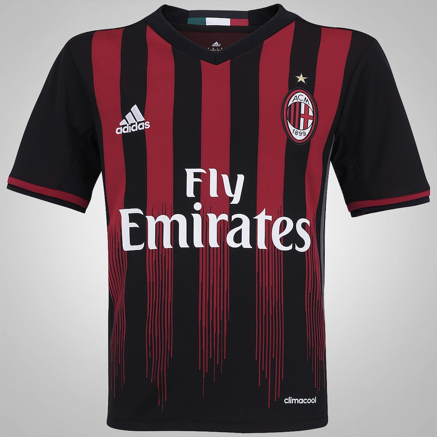 Camisa Milan I 16 17 adidas - Infantil 4c2e7215c1784