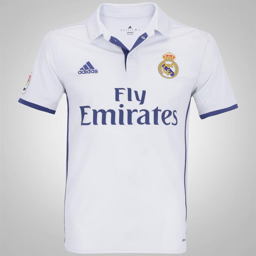 Camisa Real Madrid I 16 17 adidas - Masculina 7e900bad9b01d