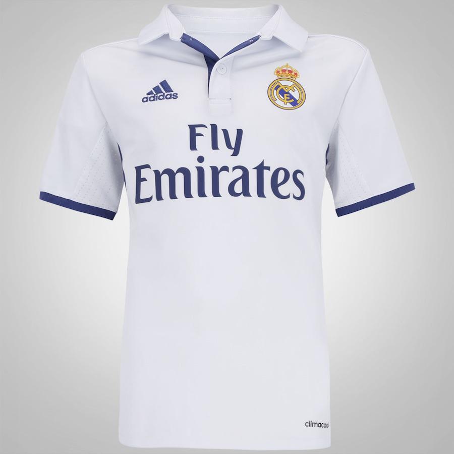 08693a95448 Camisa Real Madrid I 16 17 adidas - Infantil