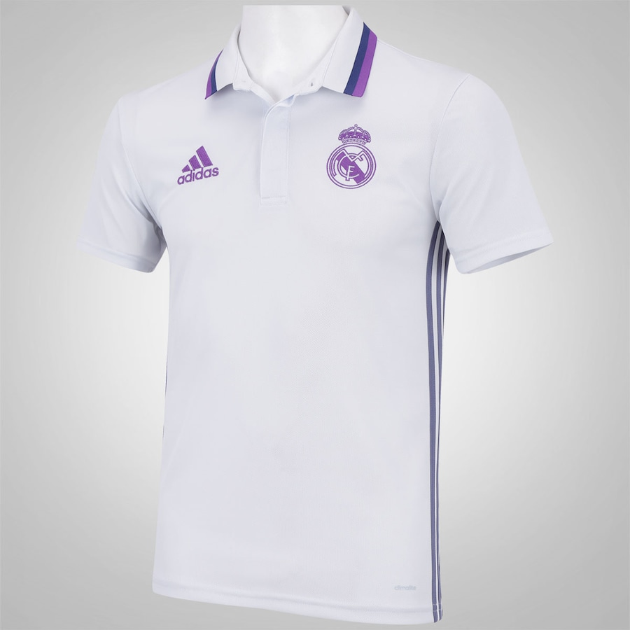 Camisa Polo Real Madrid Viagem adidas - Masculina b33a0563f218b