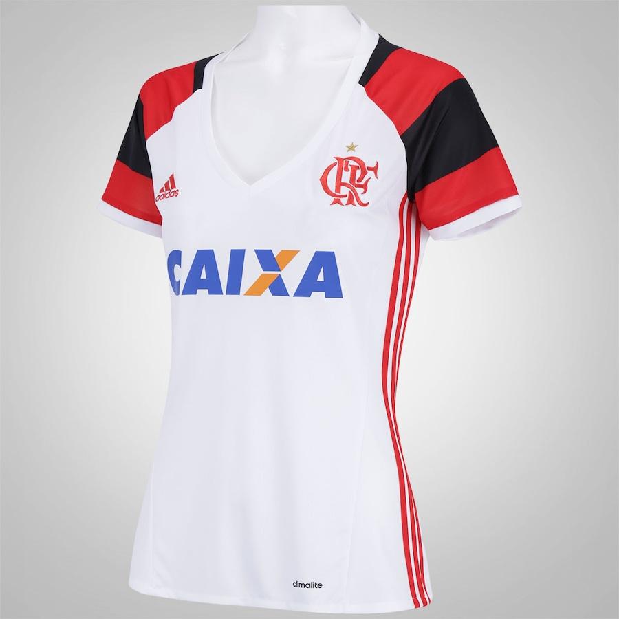 Camisa do Flamengo II 2016 adidas - Feminina 4ece509674ec6