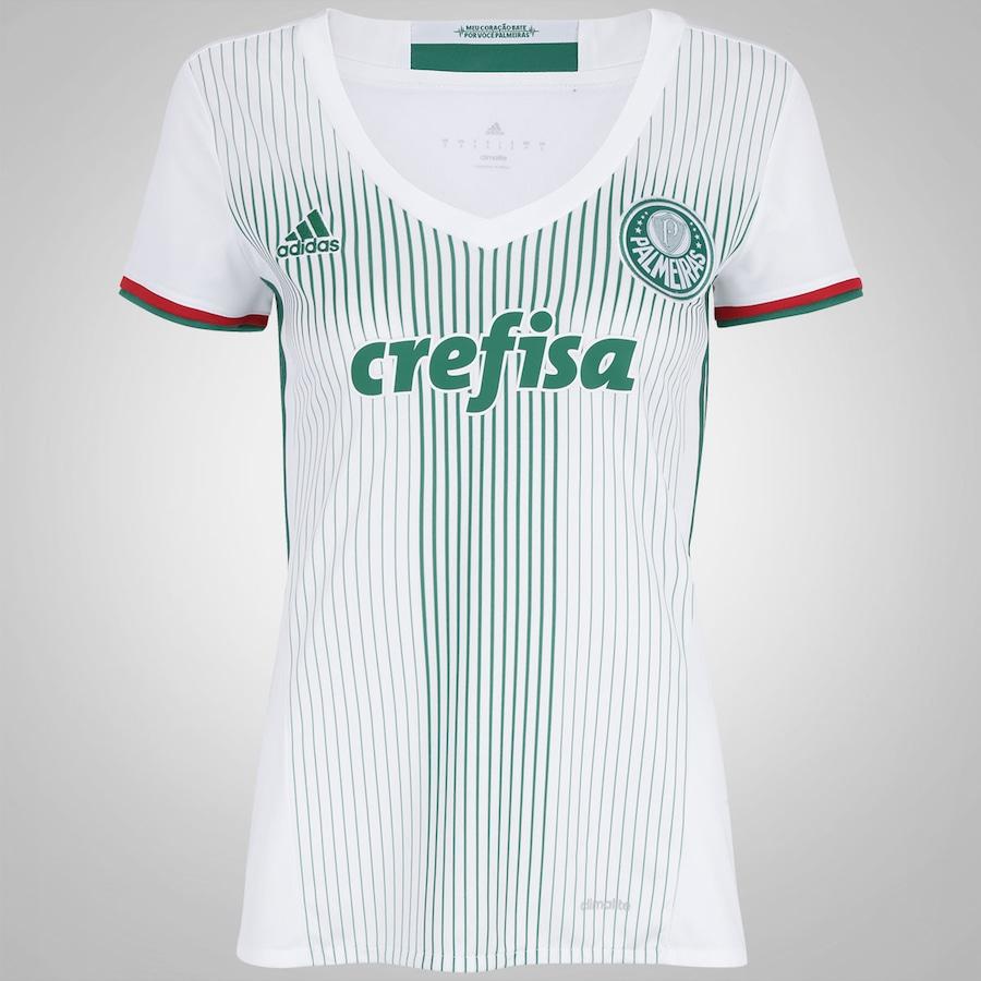 Camisa do Palmeiras II 2016 adidas - Feminina 39733492ca79e