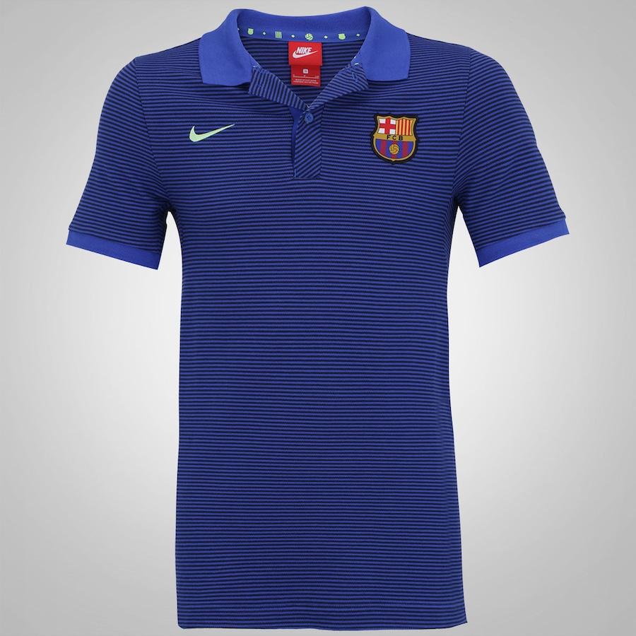 51bd8e7a96 Camisa Polo Barcelona Nike Auth Slim - Masculino