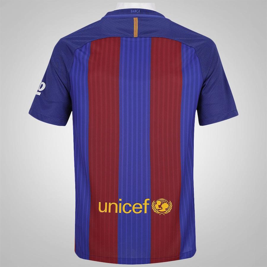 Camisa Barcelona I 16 17 Nike - Masculina 22ce6d1520e55