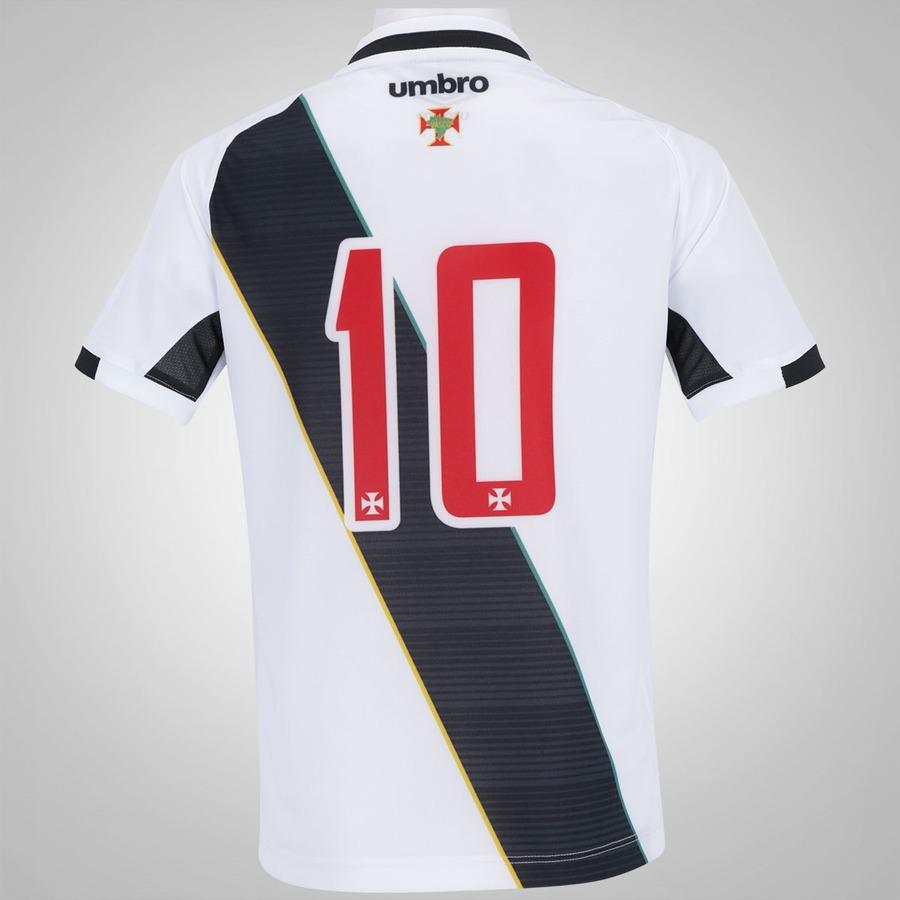 Camisa do Vasco II 2016 nº 10 Umbro - Infantil 32644d65b9f56