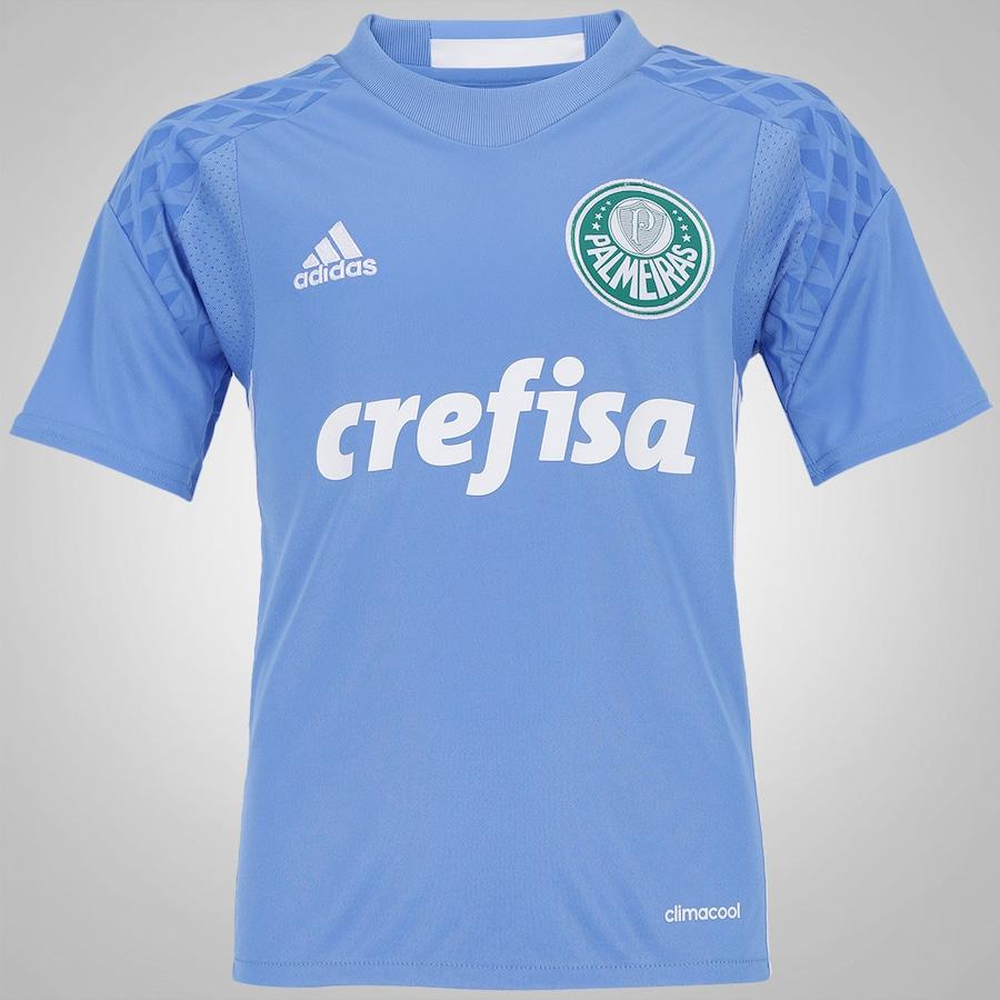 Camisa de Goleiro do Palmeiras I 2016 adidas - Infantil 958da9e36033e