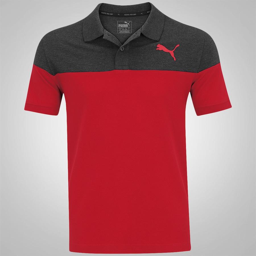 2d85fc9e47 Camisa Polo Puma Alpha Block - Masculina