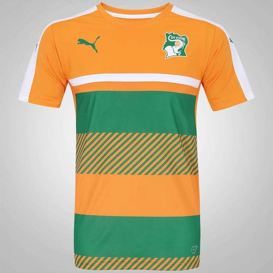 Camisa de Treino Costa do Marfim 2016 Puma - Masculina f7df664419665