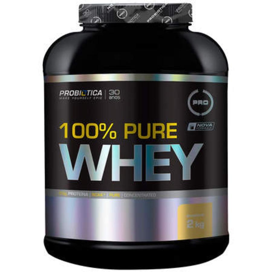 Whey Protein Concentrado Probiótica 100% Pure Whey - Baunilha - 2 Kg
