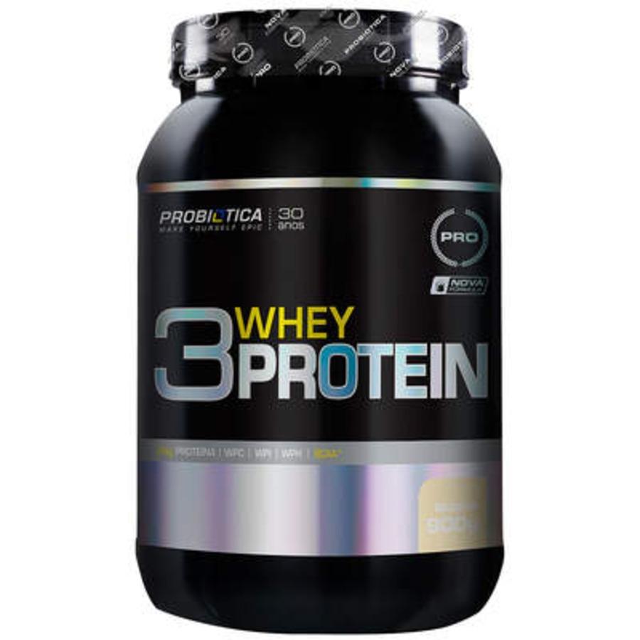 Whey Protein Probiótica Baunilha 3W - 900g