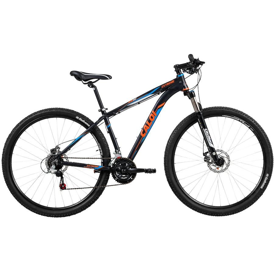 414a2198f Mountain Bike Caloi Extreme - Aro 29 - Freio a Disco - Câmbios Shimano - 21  Marchas