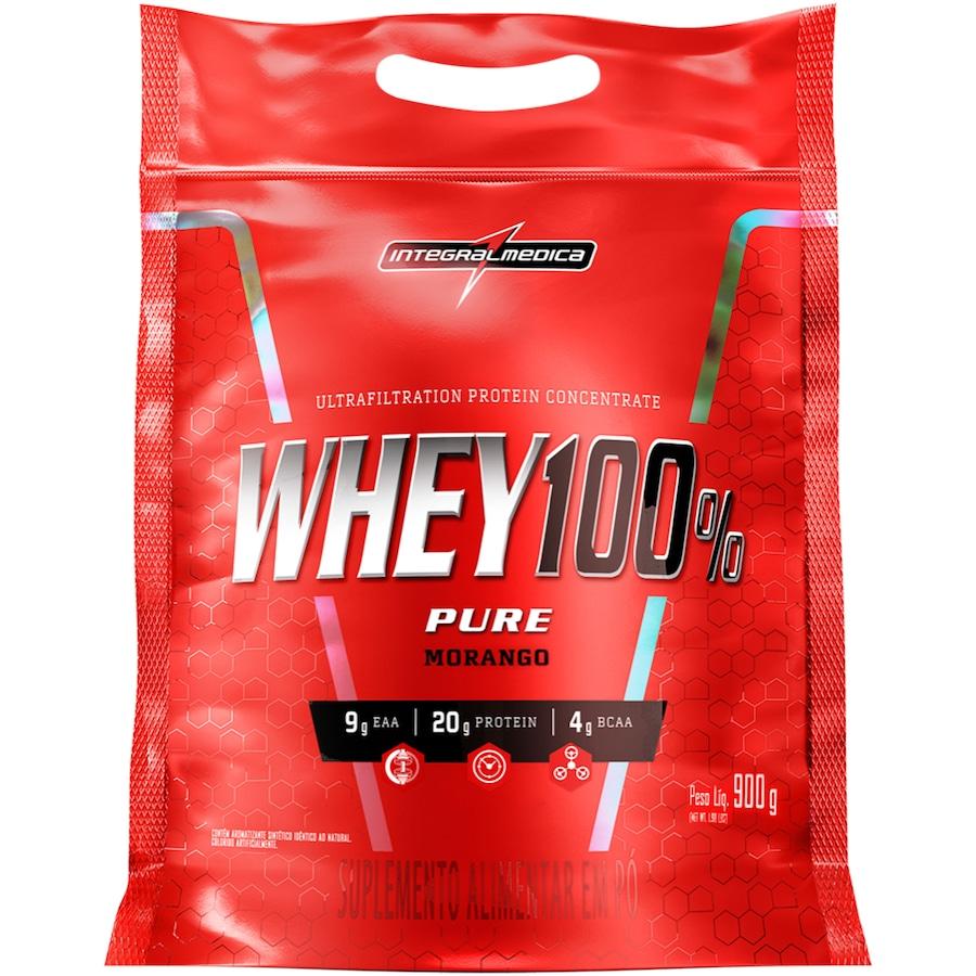 Whey Protein Integralmédica Morango Super 100% - 907g