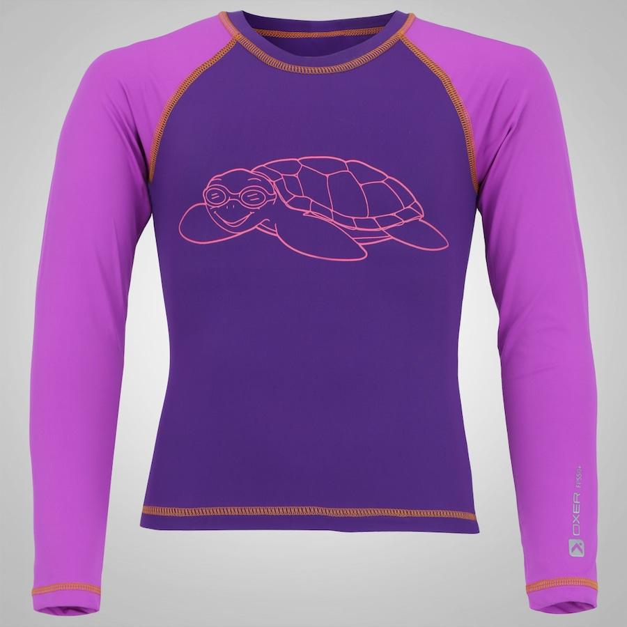Camiseta Manga Longa com Proteção Solar UV Oxer Tartaruga - Infantil 8c513ce222
