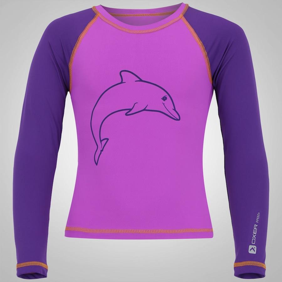 Camiseta Manga Longa com Proteção Solar UV Oxer Golfinho 555149fc5c