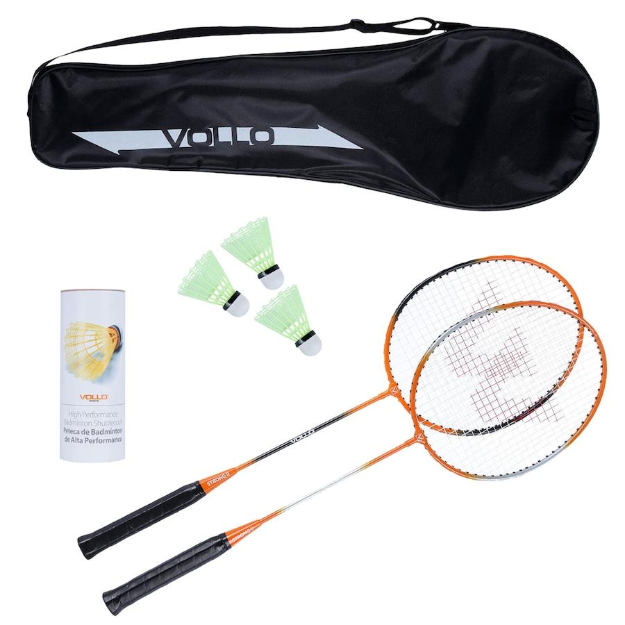 9bcbcc13a Kit Badminton Vollo Sports VB002 com 2 Raquetes