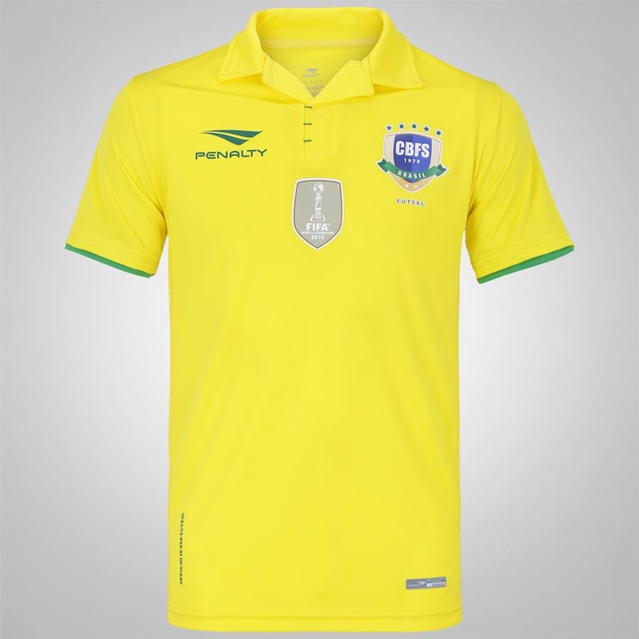 dcb28e0a41552 Camisa Brasil Futsal I 2016 Penalty - Masculina