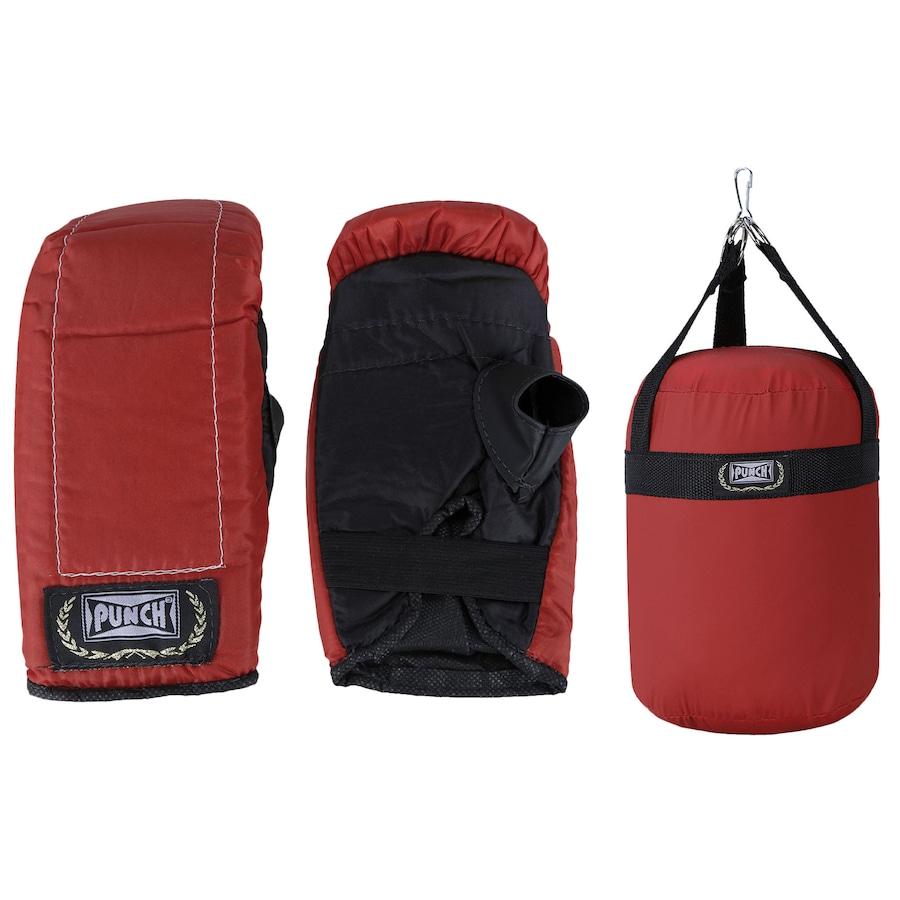 723a76e1a Kit de Boxe Punch com Saco de Pancada + Luvas de Bate-Saco - Infantil